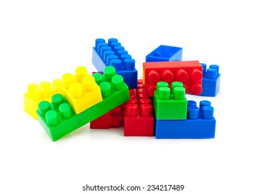 toy cubes on white background