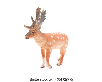 toy deer on a white background