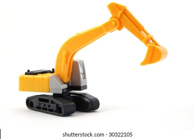 toy digger showing concept for construction company