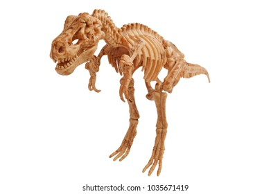 toy dinosaur tyrannosaur isolated on white