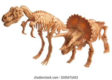 toy dinosaur tyrannosaur and tyrannosaur isolated on white