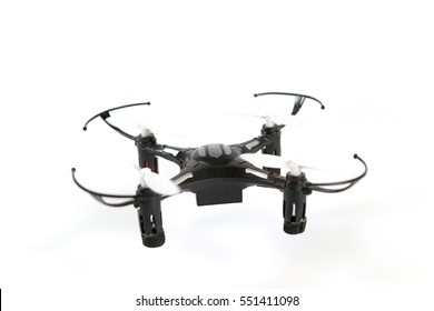 Toy Drone quadrocopter. Remote controlled quadcopter drone.