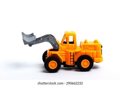 Toy Dump Truck on white background