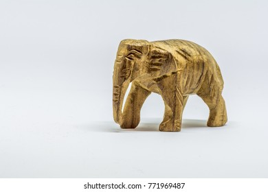 Toy elephant carved from wood