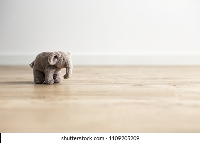 Toy elephant in the children's room.  Background