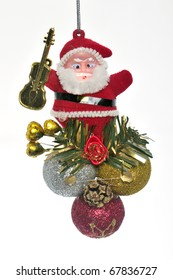 Toy for embellishment New Year fir tree figure