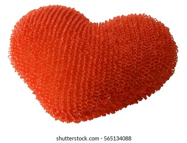 Toy fluffy heart