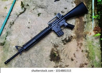 Toy Gun. Air Gun. Long Barrel Rifle. M16.