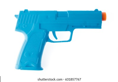 Toy Gun made of plastic isolated on white background