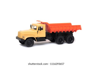 the toy heavy truck isolated over white background