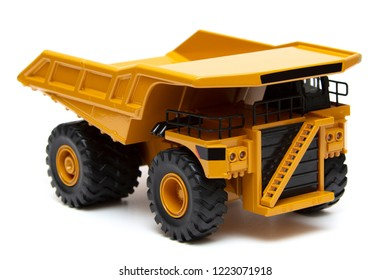 toy heavy truck isolated over white background