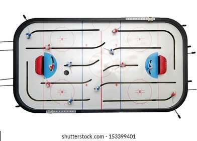 toy hockey isolated on the white background