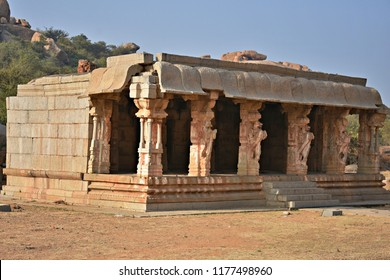 """Toy horse hall (Kudure Gombe) near Vijaya Vitthala temple, Hampi, Karnataka"""