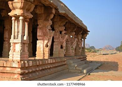 """""""Toy horse (Kudure gombe) Mandapa near Vijaya Vitthala temple, Hampi, Karnataka"""""""