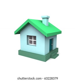 Toy house. 3d illustration.