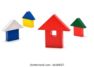 Toy houses. Element of design.