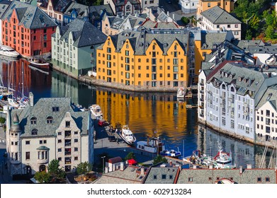 Toy houses. Scenic Alesund.Norway