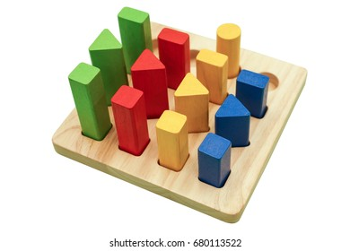 Toy for kids - colorful wooden blocks