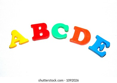 Toy letters - abc