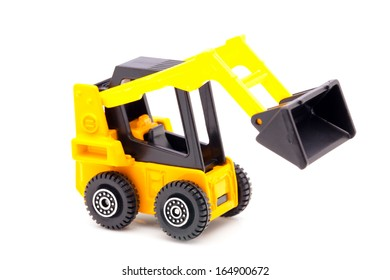 Toy loader isolated on white.