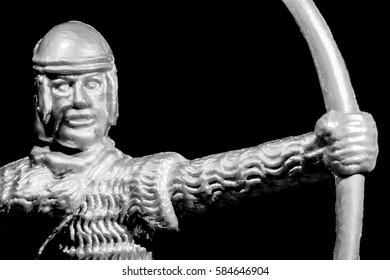 Toy Medieval Bowman Portrait