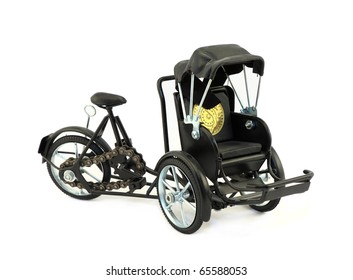 Toy model of a black bicycle