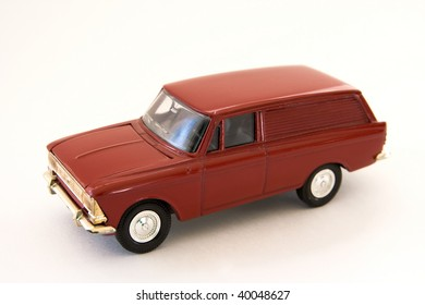 Toy model of a car on a white background