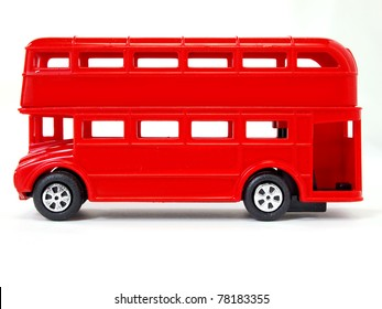 Toy model of red London Bus