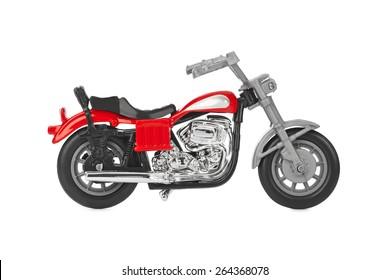 Toy motorbike isolated on white background