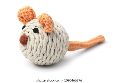 Toy mouse for cat isolated on white background