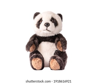 Toy panda on a white background. beautiful cute teddy bear Isolated.