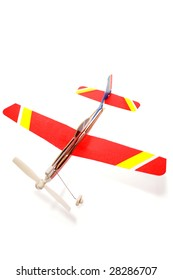 Toy plane isolated on white