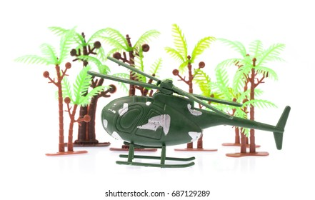 Toy plane isolated on white background