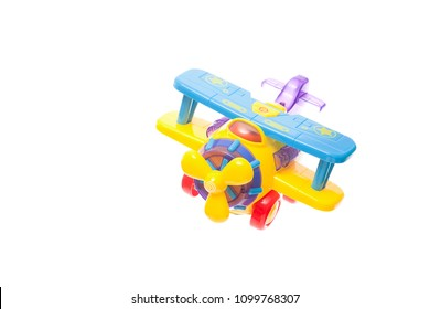 Toy plane in white background