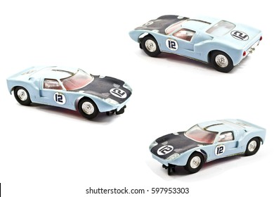 Toy Racing Car on White Background