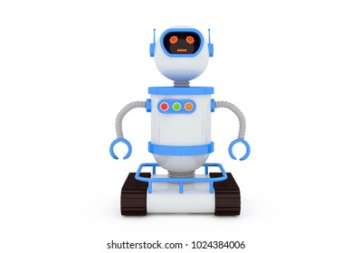 the toy robot  3D illustration