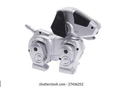Toy Robot Dog on Isolated White Background