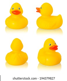 Toy rubber duck isolated on white