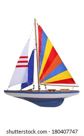 toy sailboat on white