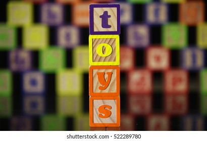 Toy sign made from blocks