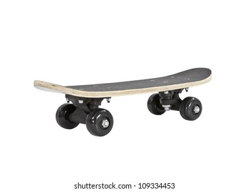 Toy skateboard Isolated with clipping path.