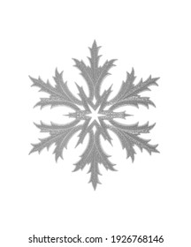 Toy snowflake isolated on a white background.