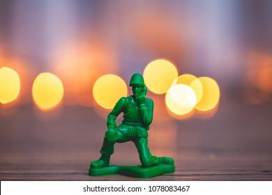Toy soldier telemarketing