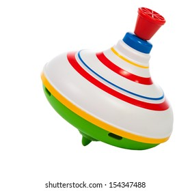 toy spinning top isolated on a white background