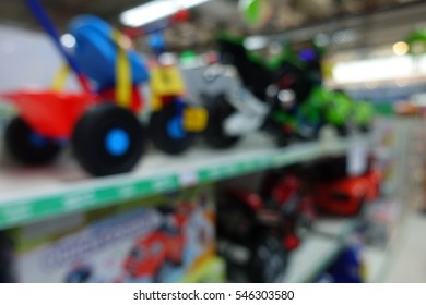 Toy store for kid interior, abstract blur background