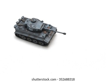 Toy Tank tiger 1 on white isolated
