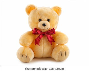 toy teddy bear isolated on white background.