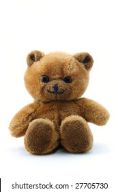 toy teddy bear isolated on white background