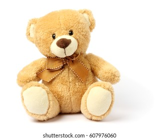 toy teddy isolated on white background