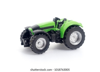 toy tractor on a white background.